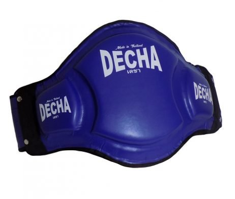 DECHA DOUBLE PADDED High Protection MUAY THAI BELLY PADS DBPV1 BLUE