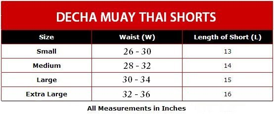 MUAY THAI SHORTS DECHA