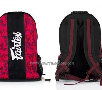 BAG4 MUAY THAI BOXING GYM BAG CAMOUFLAGE RED FAIRTEX