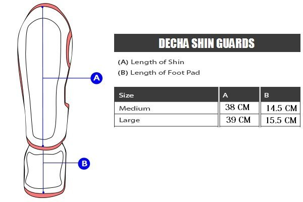 DECHA MUAY THAI SHIN GUARDS