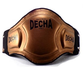 "DECHA DOUBLE PADDED ""High Protection"" MUAY THAI BELLY PADS DBPV1 BRONZE"