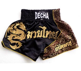 DECHA MUAY THAI BOXING SHORTS K1 MTSD9 SATIN DRAGON PATTERN