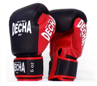 DECHA CHILDREN YOUNG KIDS MUAY THAI STYLE BOXING GLOVES SMALL SIZE BLACKRED
