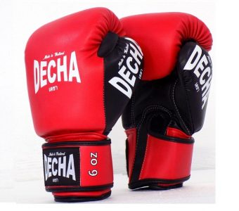 DECHA KIDS MUAY THAI STYLE BOXING GLOVES SMALL SIZE REDBLACK