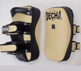 DECHA PROFESSIONAL GENUINE LEATHER CURVED KICKING PADS SHIN CONDITIONING