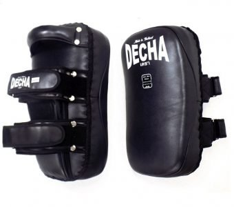 DECHA PROFESSIONAL GENUINE LEATHER CURVED KICKING PADS SHIN CONDITIONING FOREARM DKPLF1 BLACK SPIRIT