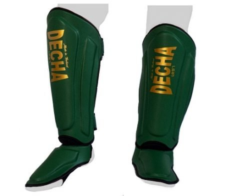 DECHA GREEN HULK MUAY THAI SHIN GUARDS DSG1 DOUBLE PADDED