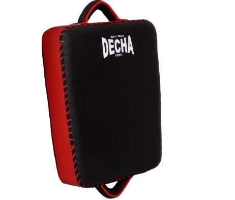 DECHA LOW KICK SHIELD MUAY THAI BOXING STYLE PAD BLACKRED DKSM2