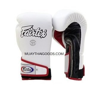 FAIRTEX BOXING GLOVES BGV6 ANGULAR SPARRING WHITE BLACK RED