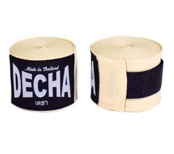 DECHA CREAM BOXING HAND WRAPS DHW5 SEMI ELASTIC