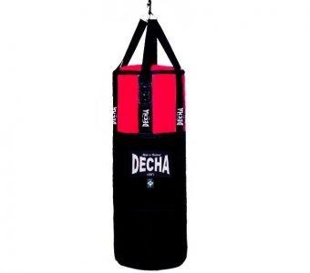 TWINS FAIRTEX DECHA MUAY THAI BOXING GENUINE LEATHER PUNCHING BAG HEAVY DUTY BLACK RED 120