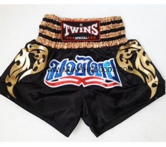 TWINS SHORTS MUAY THAI NTBS 008 BLACK GOLD