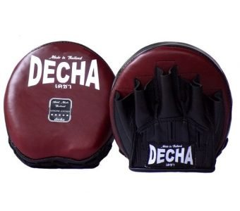 TWINS DECHA GENUINE LEATHER MINI PUNCHING FOCUS MITTS SPEED PRECISION PUNCHING DMFL2 BURGUNDYBLACK