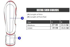 DECHA-SHIN-GUARDS CHART SIZE