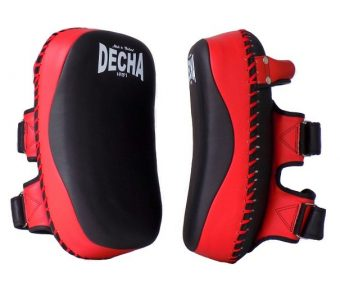 DECHA FAIRTEX TWINS TOP KING KICK PADS BLACK RED DKPM12