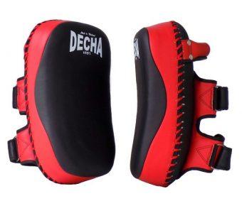 DECHA FAIRTEX TWINS TOP KING KICK PADS BLACK RED DKPM12