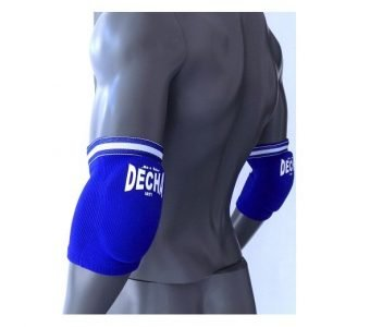 DECHA MUAY THAI K1 ELASTIC ELBOW GUARDS PROTECTION FREE SIZE BLUE DEG1