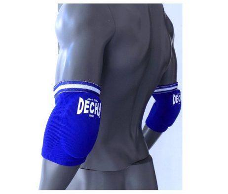 DECHA MUAY THAI K1 ELASTIC ELBOW GUARDS PROTECTION FREE SIZE BLUE DEG1