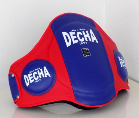 DECHA MUAY THAI LEATHER BELLY PADS PRO PERFORMANCE EXTRA PADDED