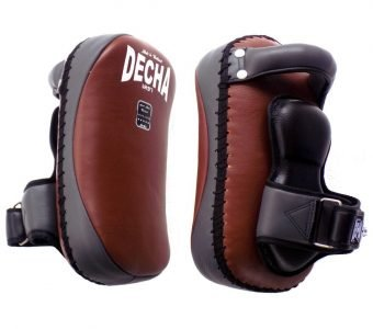 TWINS FAIRTEX TOP KING DECHA PROFESSIONAL SMALL KICKING PADS THICK LEATHER DKPL12 FOREARM ANTI-SHOCK BROWNGRAY