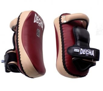 TWINS DECHA PROFESSIONAL SMALL KICKING PADS THICK LEATHER DKPL12 FOREARM ANTI-SHOCK BURGUNDY