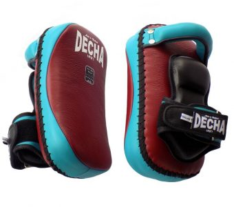 TWINS DECHA PROFESSIONAL SMALL KICKING PADS THICK LEATHER DKPL12 FOREARM ANTI-SHOCK BURGUNDYLIGHT BLUE