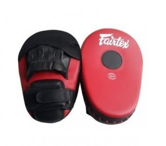 Fairtex Muay Thai Boxing Focus Punching Mitts FMV13 RED BLACK