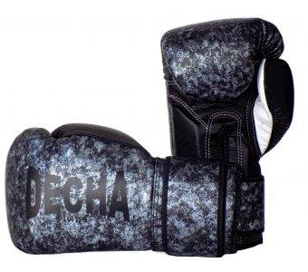 DECHA LEATHER MUAY THAI BOXING GLOVES TIGHT FIT DBGVL1 PRO PERFORMANCE 3.0 MARBLE