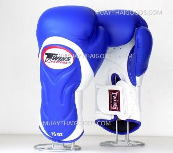 BGVL6 TWINS SPECIAL BLUEWHITE MUAY THAI KICK BOXING GLOVES